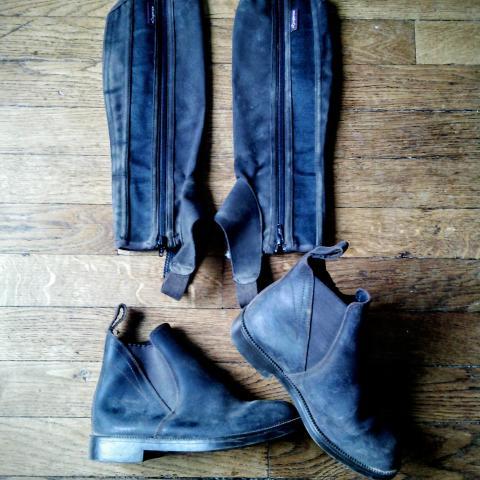 troc de  Equitation : boots 35, bottes 35, pantalon 14ans., sur mytroc
