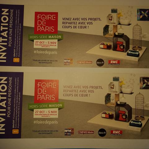 troc de  Tickets pour la Foire de Paris (Hors série : Maison), sur mytroc