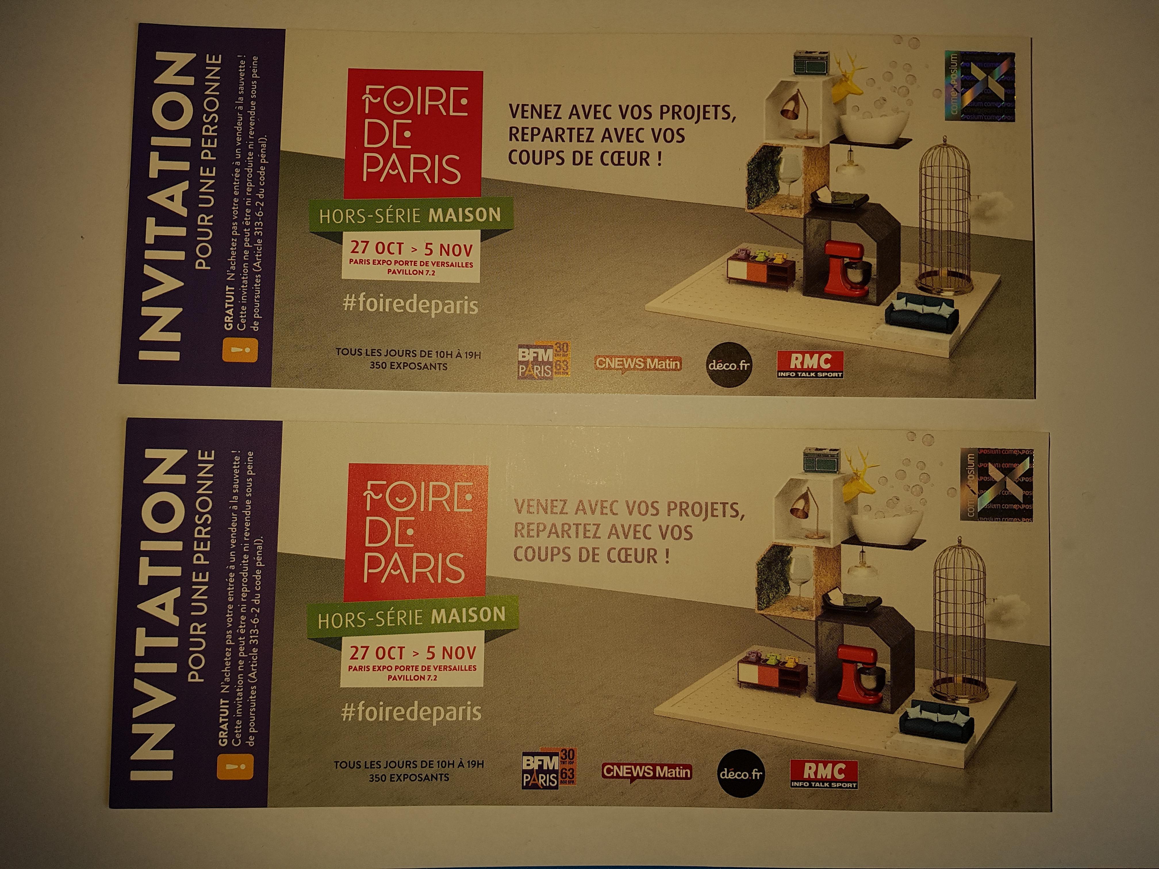 troc de troc tickets pour la foire de paris (hors série : maison) image 0