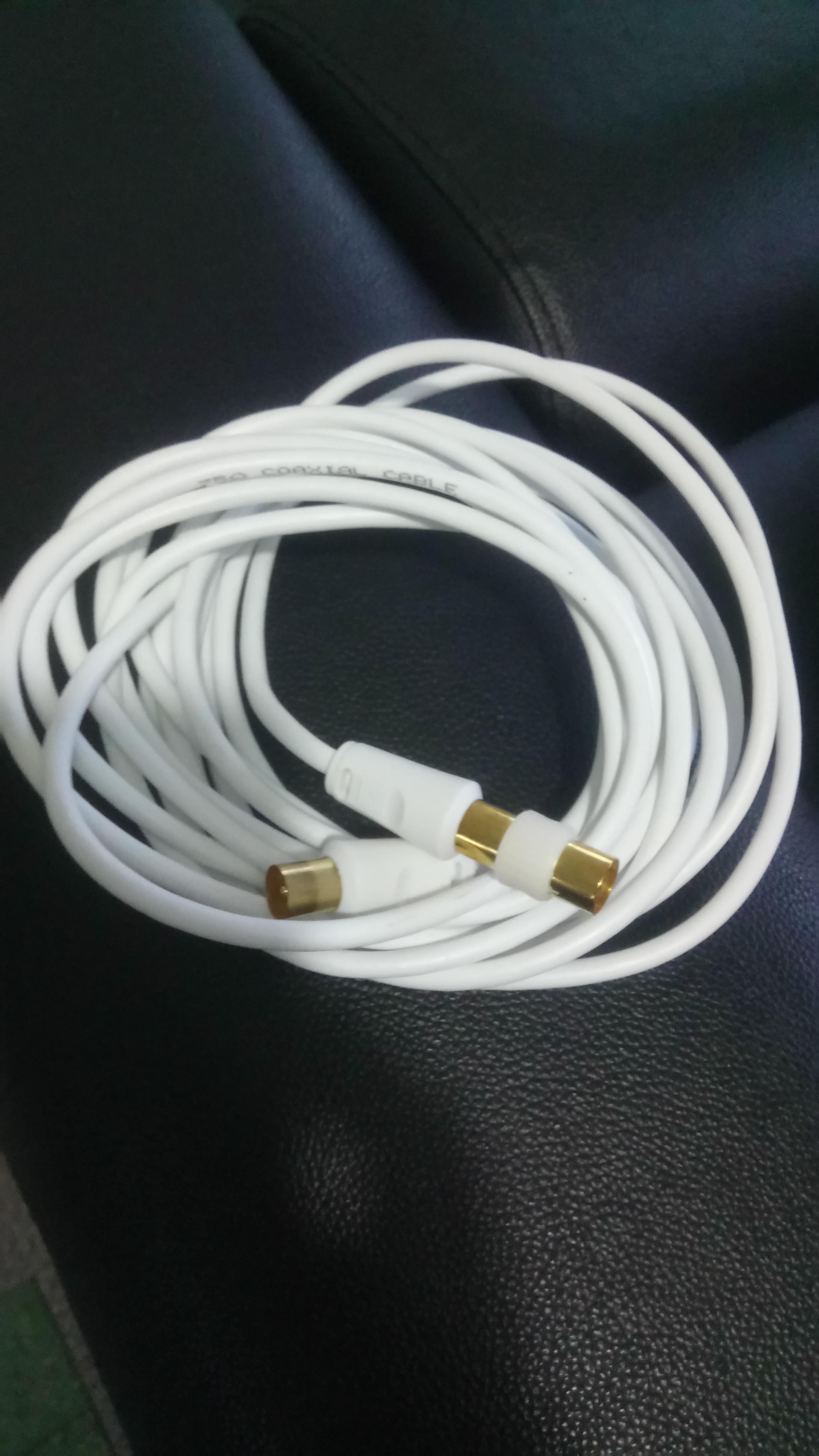 troc de troc cable co axial 5m neuf image 0