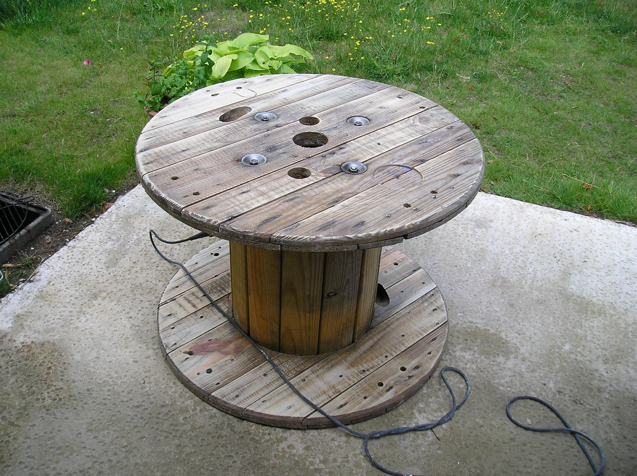 Table basse bobine bois for Table basse bobine bois