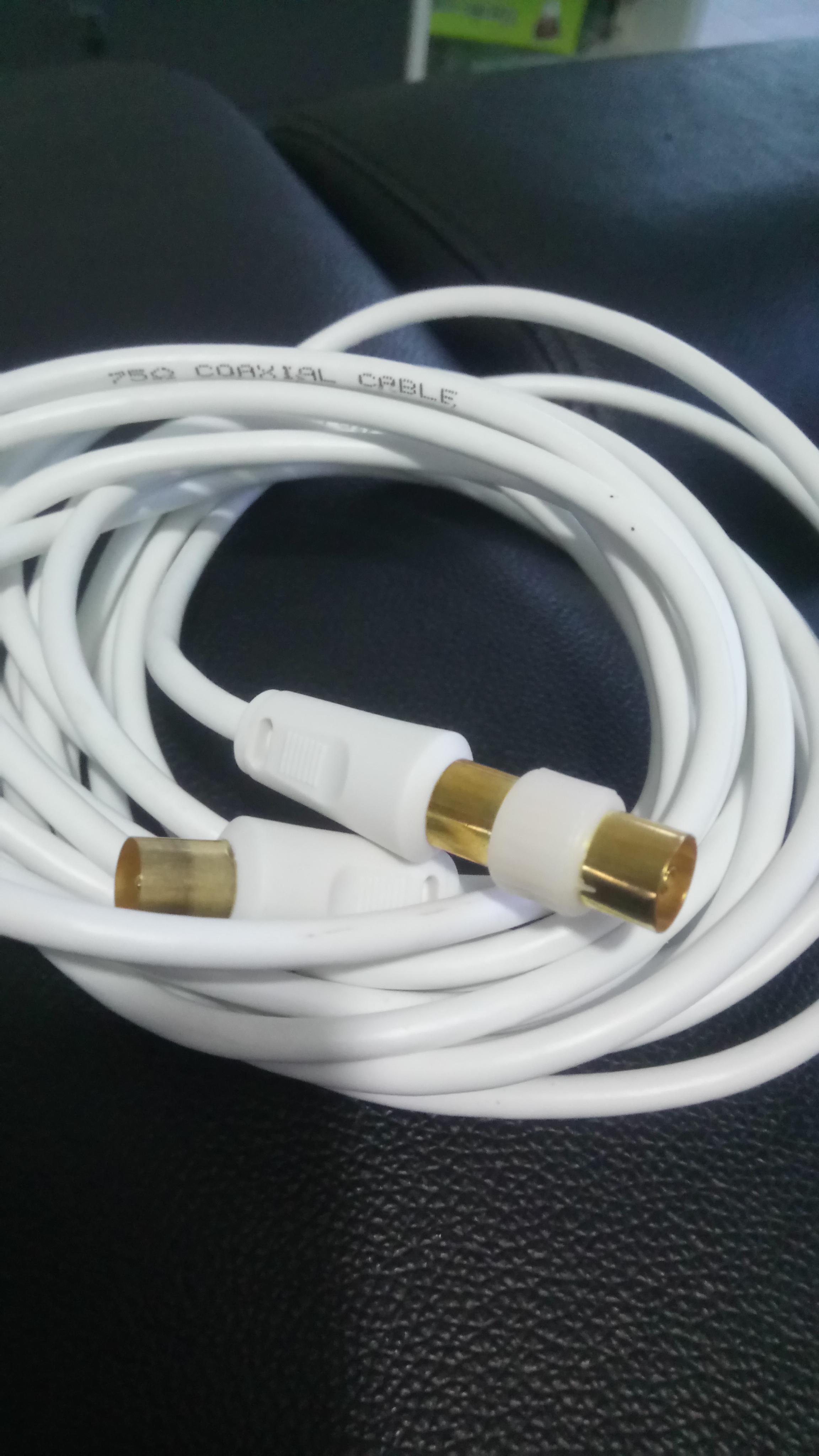 troc de troc cable co axial 5m neuf image 1