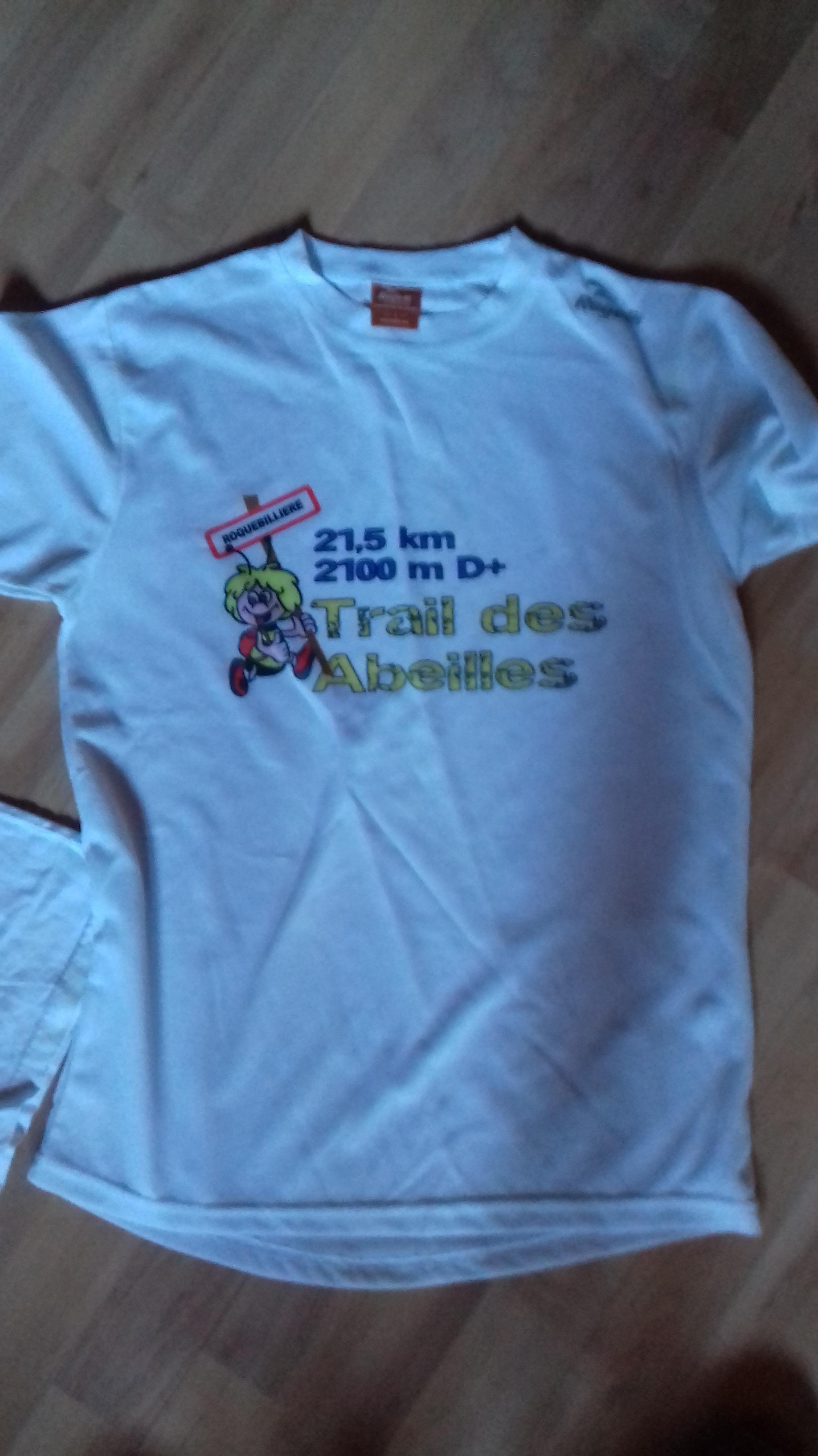 troc de troc tee-shirt de sport trail des abeilles taille homme s image 0