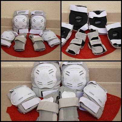 troc de troc set 3 protections roller femme gris et blanc image 0