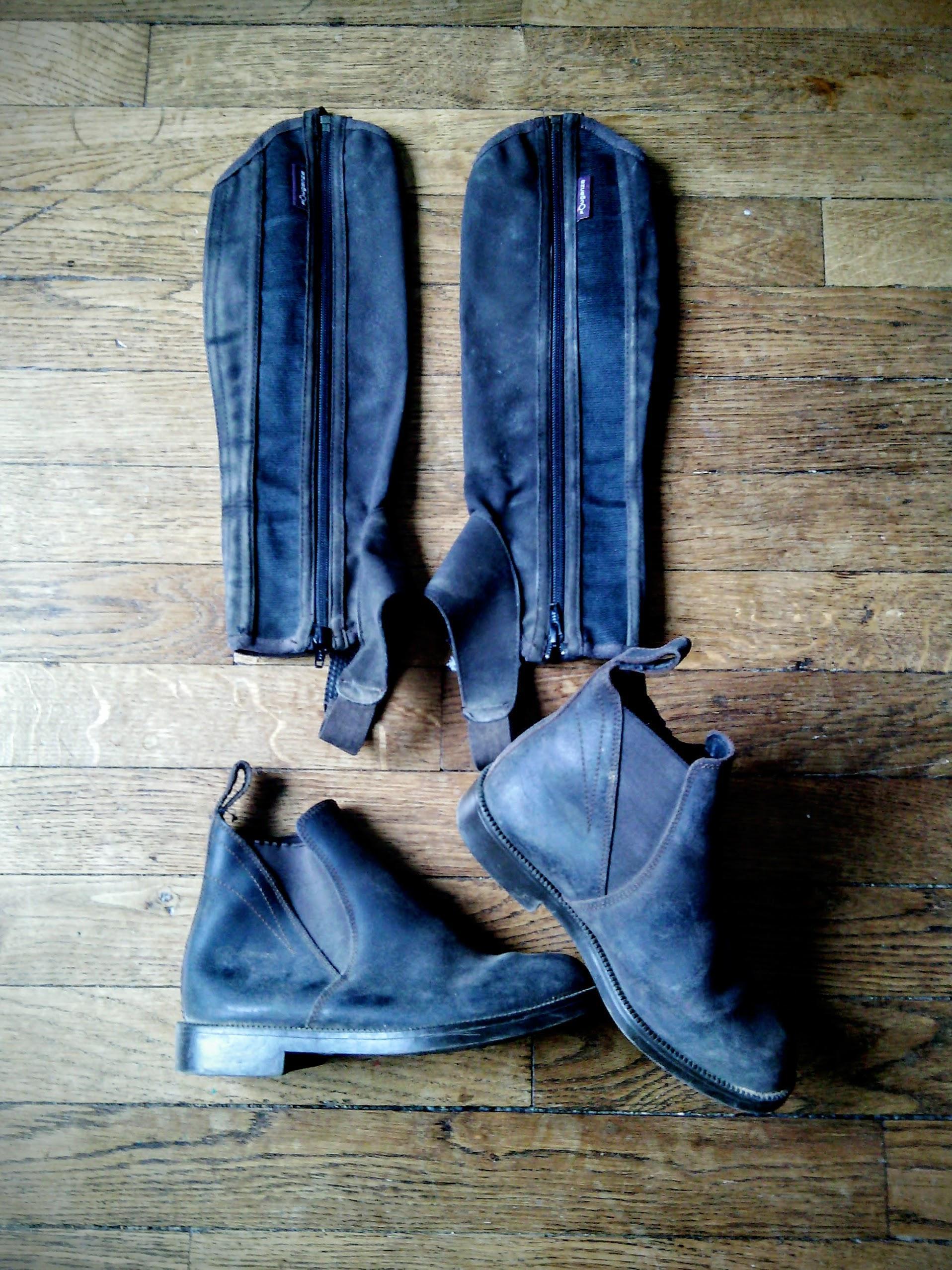 troc de troc equitation : boots 35, bottes 35, pantalon 14ans. image 0
