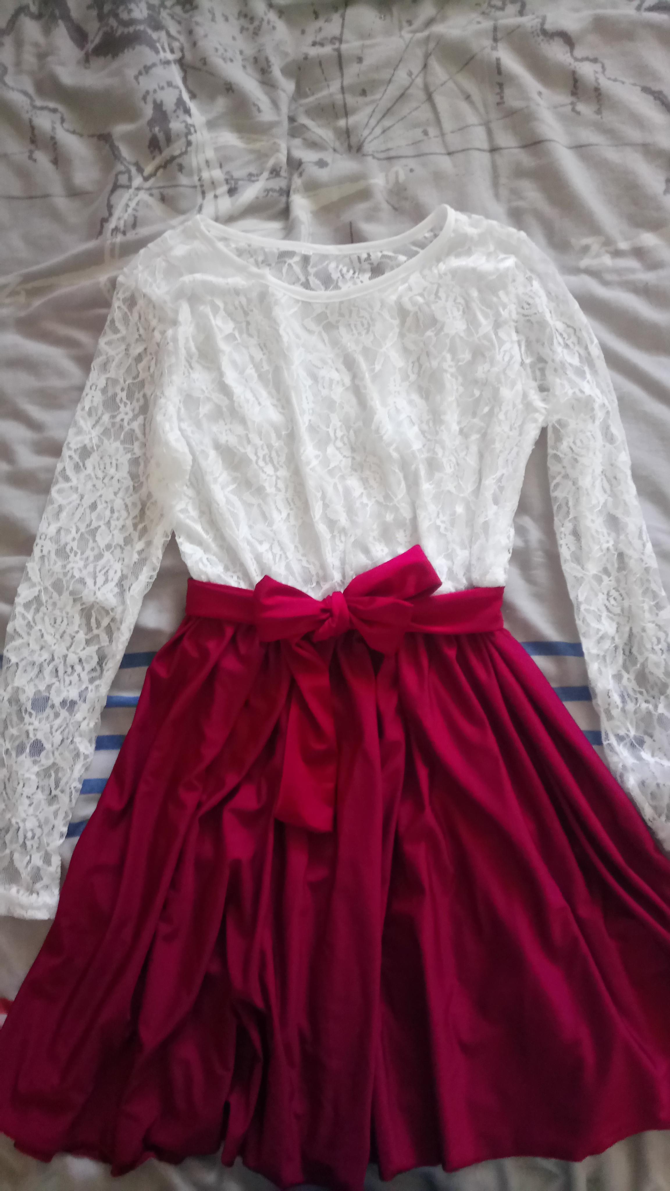 troc de troc robe neuve blanche rouge t38 image 1